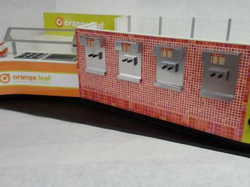 Orange Leaf Yogurt Kiosk